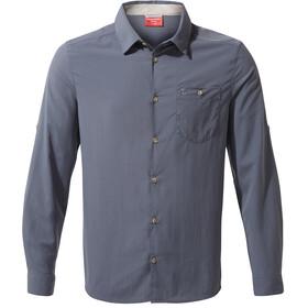 Craghoppers Nuoro Camisa de manga larga Hombre, azul
